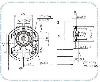 Hammaspyöräpumppu 1 sarjan koneikkopumppu piirustus