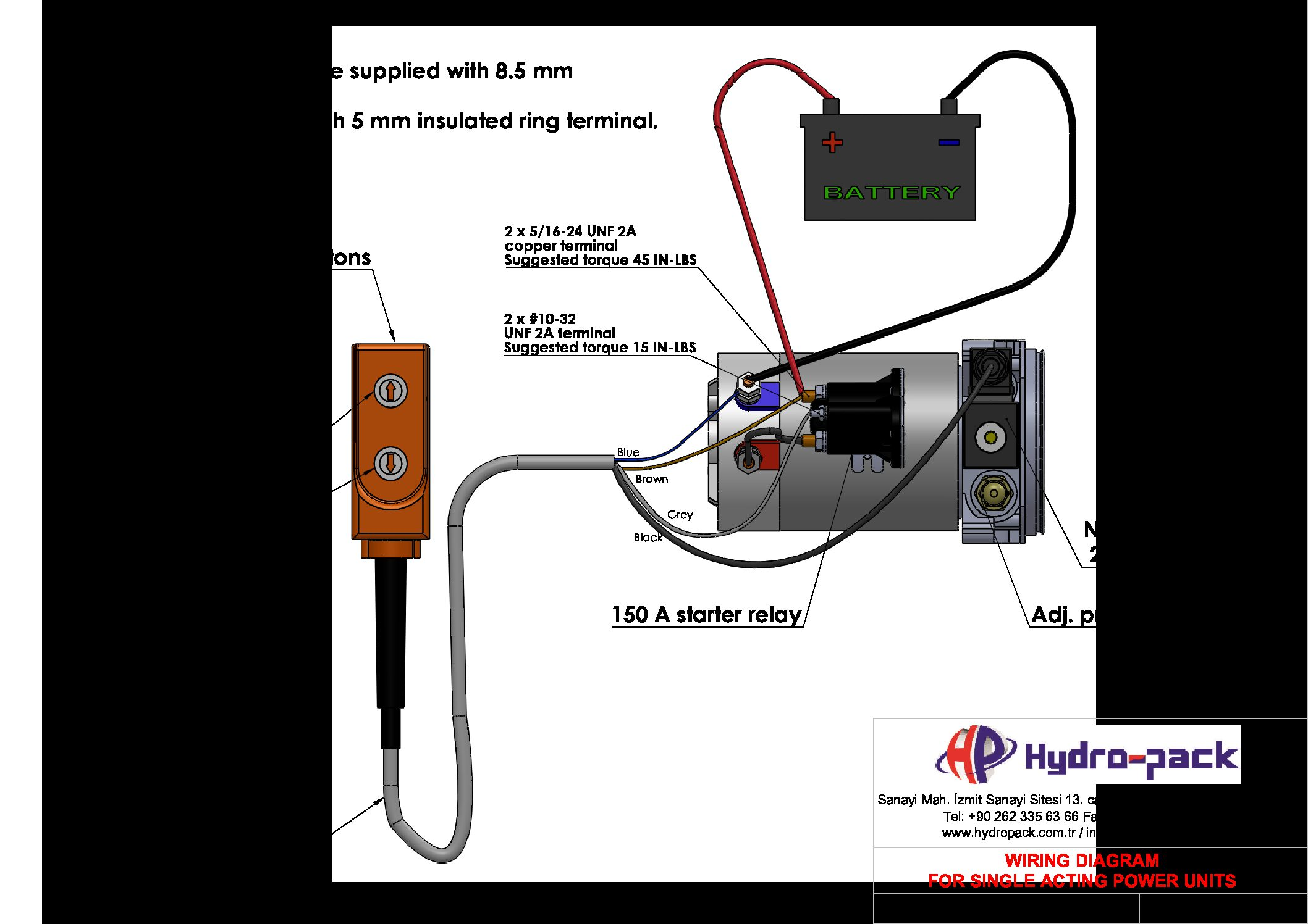 DD.054 ENG R1 Wiring Diagram for Single Acting Power Units  pdf