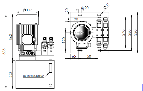 Minikoneikko 220V 2.2kw Pumppu 4.2 cc Tankki 15L kuva 3