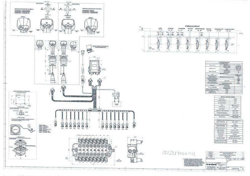 SDM100 8 1XTE10141 8 karaisen venttiilin Joystickit johtosarjan kuva 7