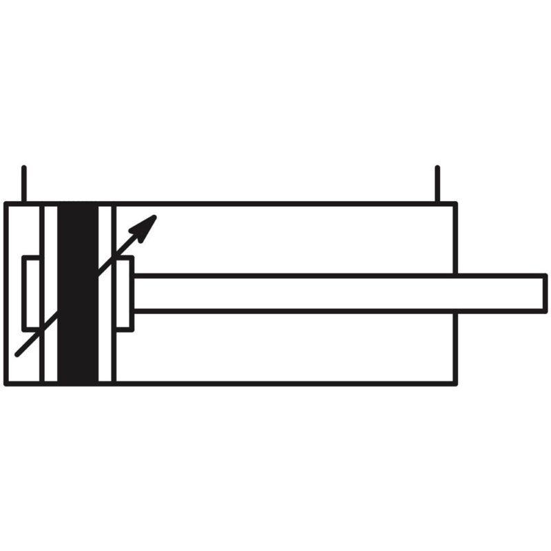 Paineilmasylinteri 50 kaavakuva