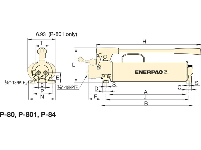 Enerpac Käsipumppu P80 P801 P84