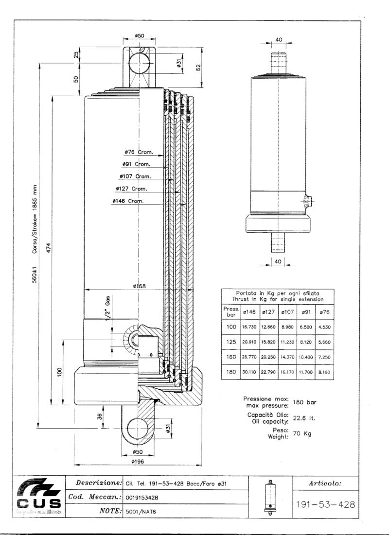 Teleskooppisylinteri NAT6, 1888