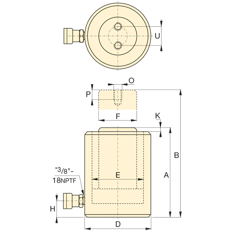 Enerpac RCS201 kaavakuva
