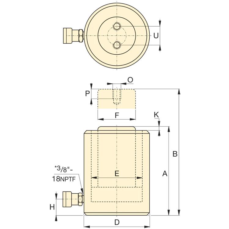 Enerpac RCS502 kaavakuva