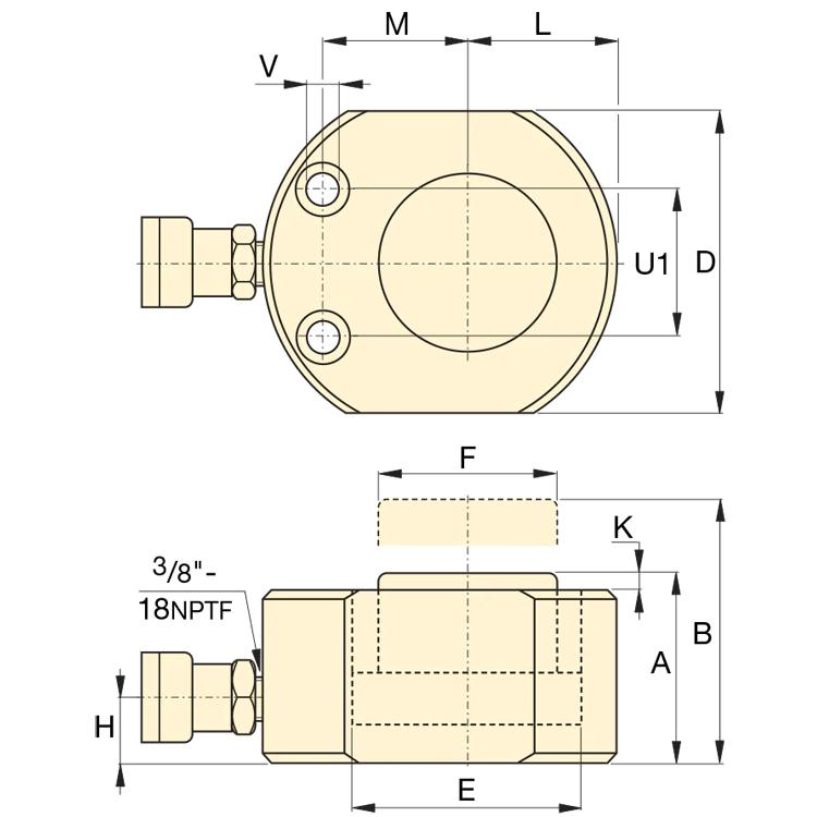 Enerpac RSM100 kaavakuva