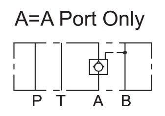 Cetop 3 Lukkoventtiili 80l/min 250bar, MPC-03A-50-50A