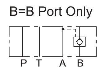 Cetop 3 Lukkoventtiili 80l/min 250bar, MPC-03B-50-50B
