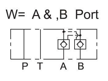 Cetop 3 Lukkoventtiili 40l/min 315bar, MPC-02W-50-50W