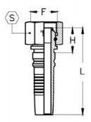 Interlock Letkuliitin BSB-sisäkierre kaavakuva