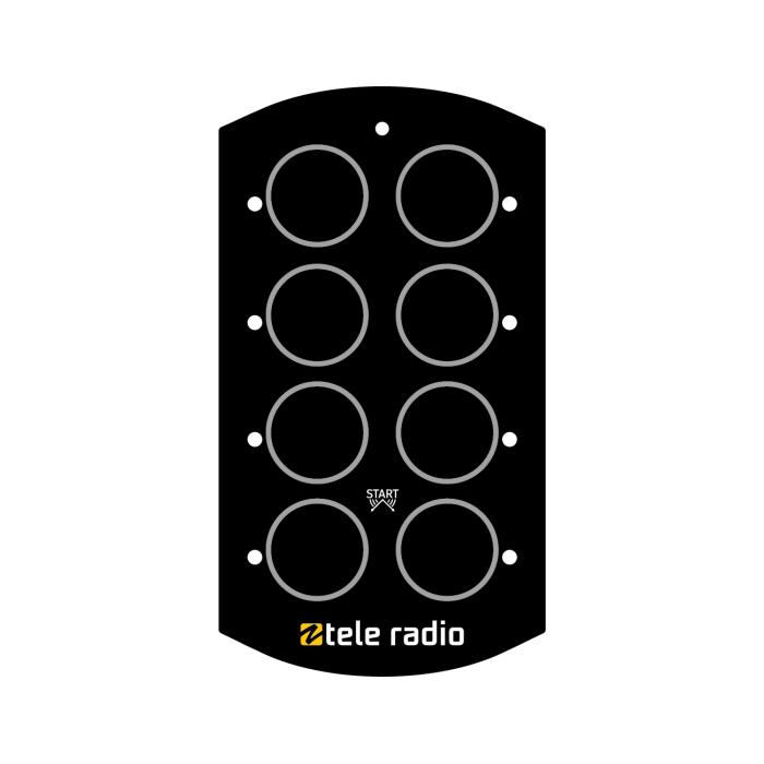 Tele Radio Näppäinkalvo Tyhjä, T9-1 / T17-8